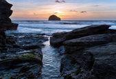 Trebarwith strand — Stok fotoğraf