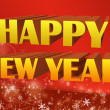 Happy new year 3D illustration — Stock Photo