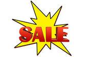 Explosive sale illustration isolated on white — Stock Photo
