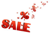 Explosive sale illustration with space for text — Stock Photo