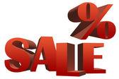 Sale 3D illustration — Stock Photo