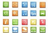 Tablet icon set — Stock Photo