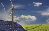 Renewable wind energy — Stock Photo