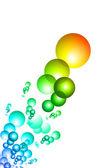 Colorful bubbles illustration — Stock Photo