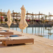 Recreation area with swimming pool in luxury hotel, Dahab, Egyp — Stock Photo