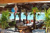 Restauracja w ośrodku nad morzem czerwonym w sinai, dahab, egipt — Zdjęcie stockowe