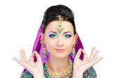 Indian girl in sari — Stock Photo