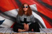 Glam rock style girl — Stock Photo