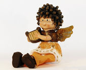 Angel playin lyre — Stock Photo