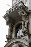 Sculpture on building — Stok fotoğraf