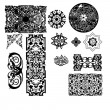 Stock Vector: Set of arabesques and ornaments
