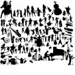 Stock Vector: Set of music instruments