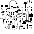 Stock Vector: Set of lamps
