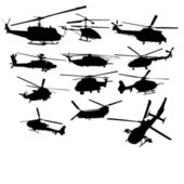 Set of helicopters — Stock Vector
