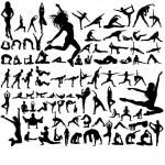 Yoga poses — Stock Vector #23626367