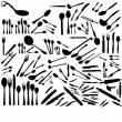 Royalty-Free Stock Vector Image: Set of spoons