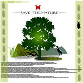 Save the nature (background) — Stock Vector