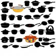 Set of dishes icons — Stock Vector