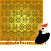 Decorative background with design of Andalusia — Stock Vector