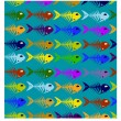 Royalty-Free Stock Vector Image: Fish pattern background