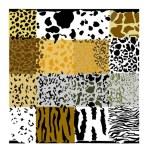 Set of animals textures — Stock Vector #42319867