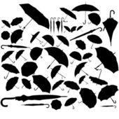 Zestaw parasol — Wektor stockowy
