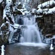 Waterfall in winter — Stock Photo
