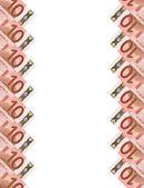 Euro banknotes.vertical arka plan. — Stok fotoğraf