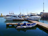 Boats and yachts — Stock Photo