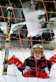 Kleine skiër — Stockfoto