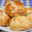 Delicious freshly baked pastry filled with cheese — Stock Photo