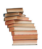 Books stack isolated on white background — Stock Photo