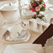 Stock Photo: Table set for a wedding dinner
