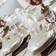 Table set for a wedding dinner — Stock Photo #18373229