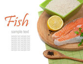 Salmon steak filet — Stock Photo