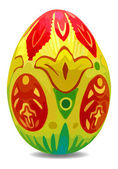 Bright and colorful vector easter egg with shadow — Stok Vektör