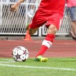 Soccer Corner Kick — Stock Photo
