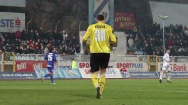 Soccer goalkeeper — Stock Video