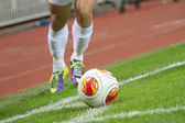 Soccer Corner Kick — Stock Photo