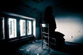 Scène d'horreur d'une femme effrayante — Photo