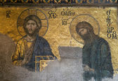 Mosaic with Christ as ruler - Hagia Sophia — Stock Photo