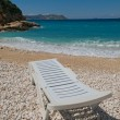 Sun lounger on the beach — Stock Photo