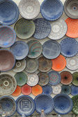 Traditional Arabic painted plates — Stock Photo