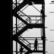 Stock Photo: Silhouettes of at industrial project
