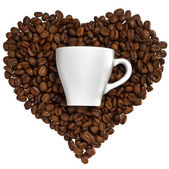 Cup of favourite coffee — Stock Photo