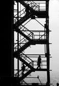 Silhouettes au projet industriel — Photo