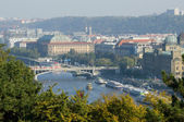 Autumn morning in Prague — Stock Photo