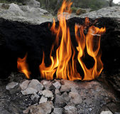 Fire on Mount Chimaera — Stock Photo