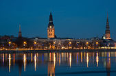 Riga - evening view — Stock Photo