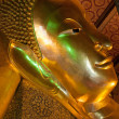 Head of the Reclining Buddha - Wat Pho, Thailand — Stock Photo